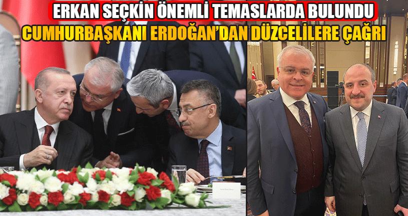 Cumhurbaşkanı Erdoğan Düzcelilere Çağrıda Bulundu