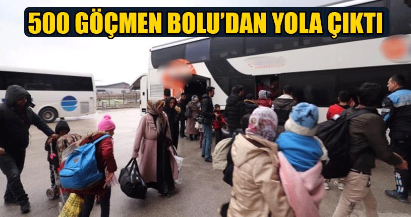 Bolu'da 500 Göçmen Avrupa Hayaliyle Edirne'ye Yola Çıktı