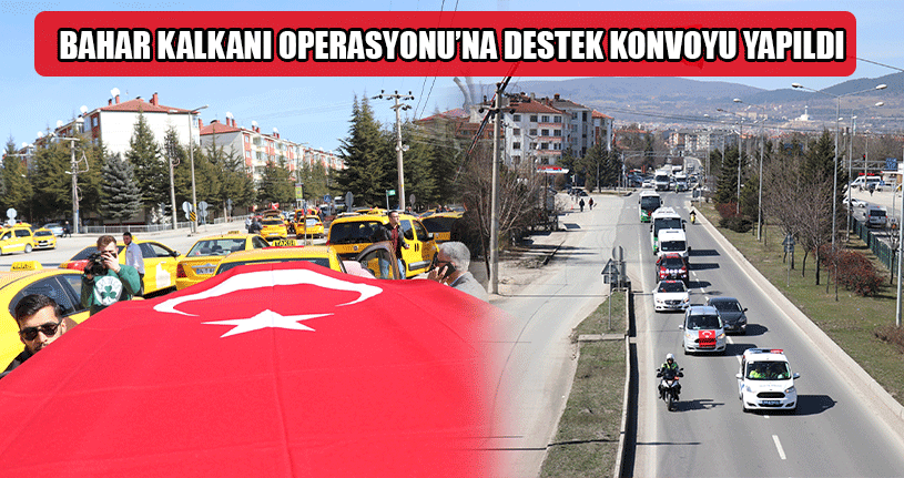 Türk Bayrakları Asılı Yüzlerce Araçlı Konvoy Yapıldı
