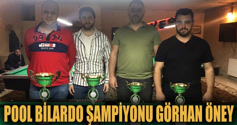 Pool Bilardo Şampiyonu Görhan Öney