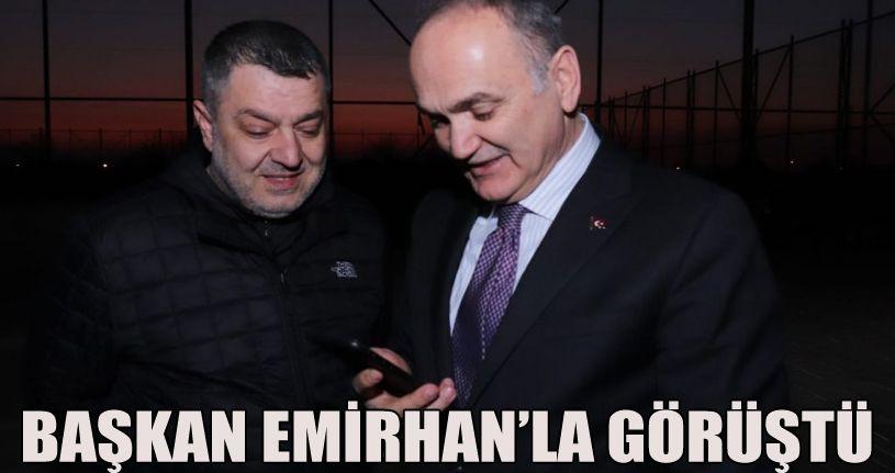 Başkan Özlü Lösemi hastası Emirhan ile görüştü