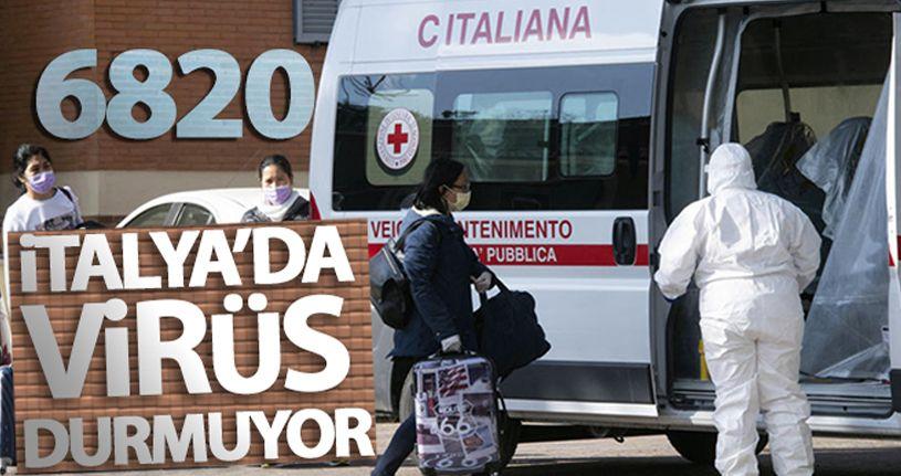 İtalya'da korona virüs nedeniyle ölü sayısı 6 bin 820'ye ulaştı
