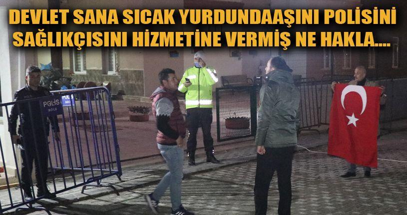 Türkiye Cumhuriyeti'ne küfür eden karantinadaki öğrencilere vatandaşlardan tepki