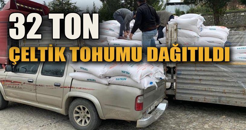 32  ton çeltik tohumu dağıtıldı
