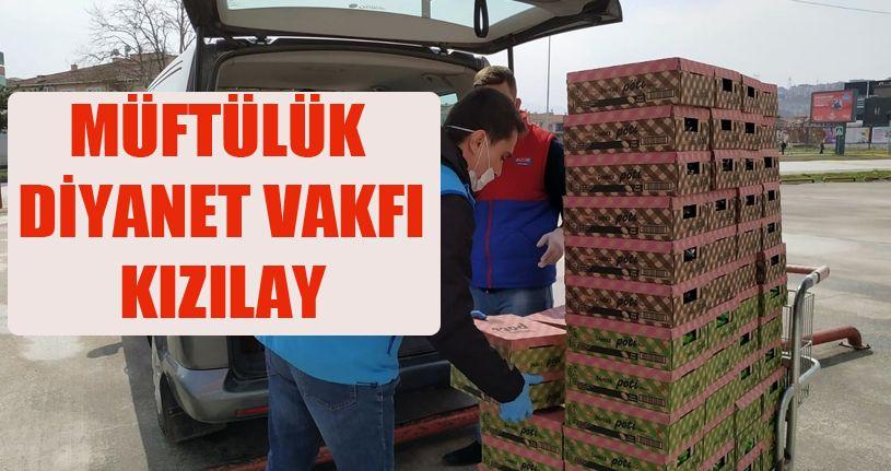 Müftülük, Diyanet Vakfı ve Kızılay'dan, KYK'da karantinada tutulan öğrencilere hediye paketi