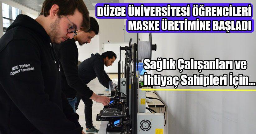 Düzce Üniversitesi Öğrencileri Maske Üretimine Başladı
