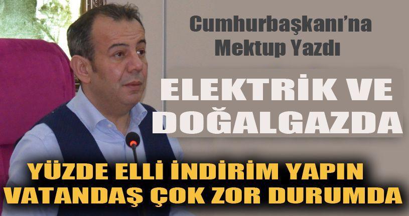 Bolu Belediye Başkanı Tanju Özcan'dan, Cumhurbaşkanına mektup