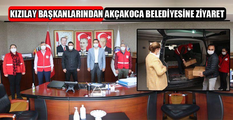 Kızılay Başkanları Akçakoca Belediyesini Ziyaret Etti