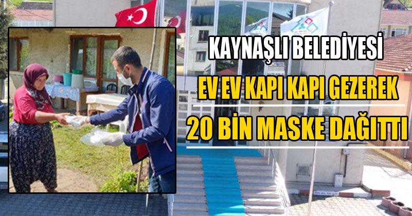 Vatandaşlara Günde 2 Bin Maske Ulaştırıldı