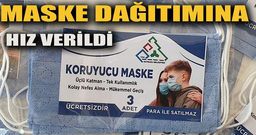 Karar sonrası maske dağıtımı hızlandı