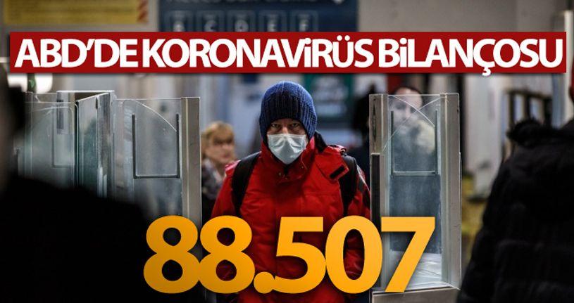 ABD'de koronavirüsten ölenlerin sayısı 88 bin 507'ye yükseldi