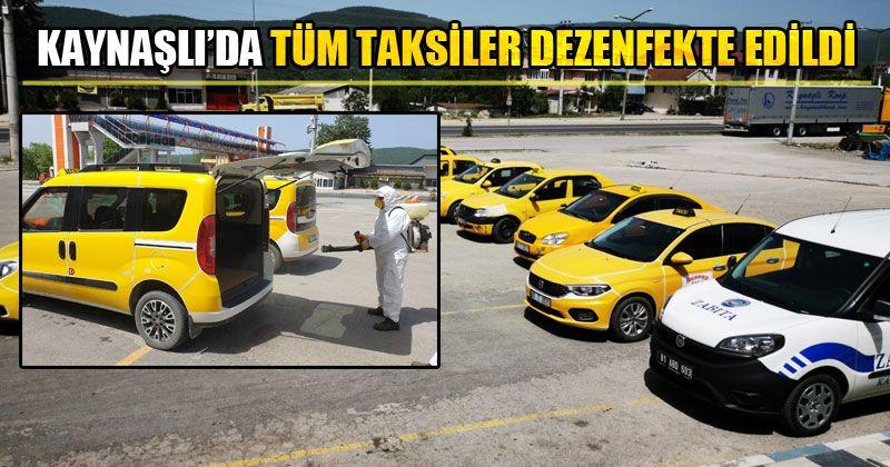 Taksiler 3 Günde Bir Dezenfekte Ediliyor