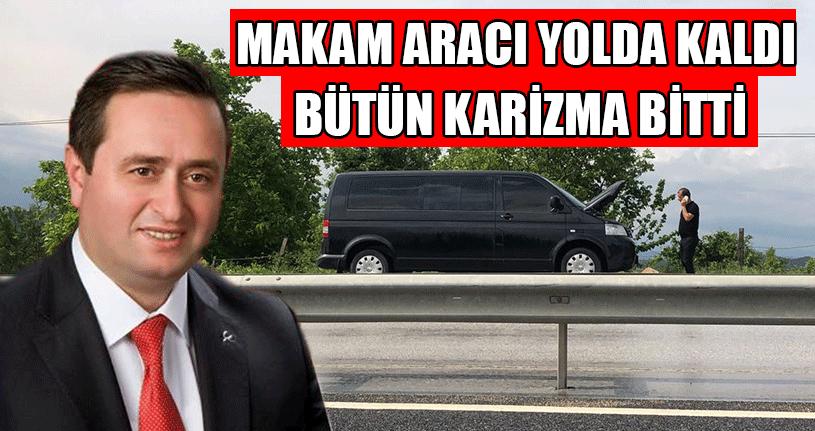 Başkan Yanmaz'ın Aracı Yolda Kaldı