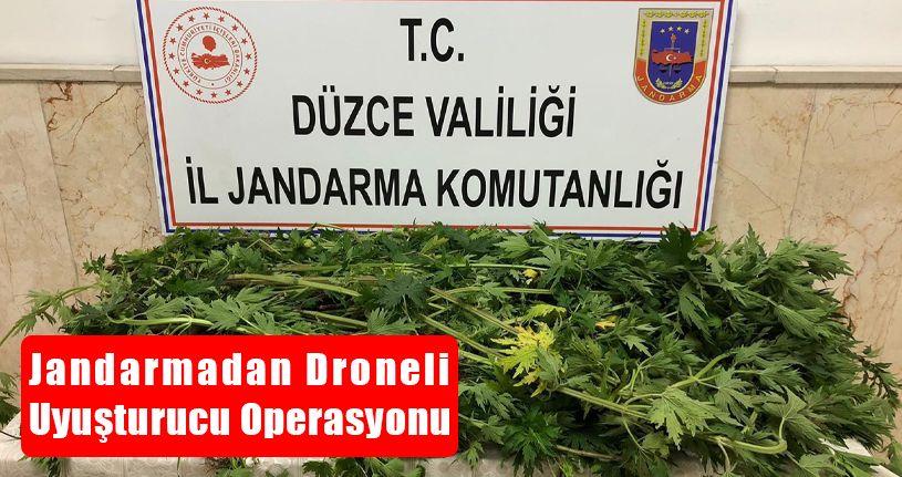 Jandarmadan Droneli Uyuşturucu Operasyonu