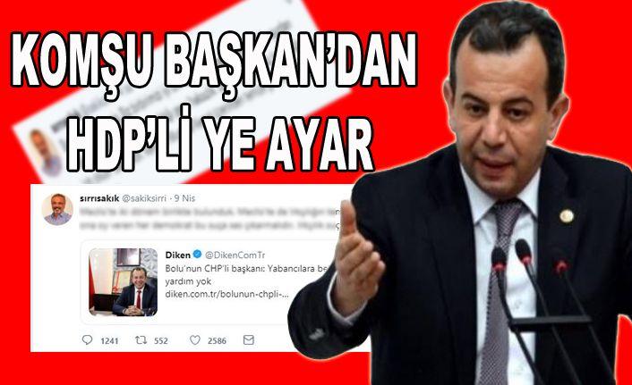 Özcan'dan HDP'li ye sert cevap