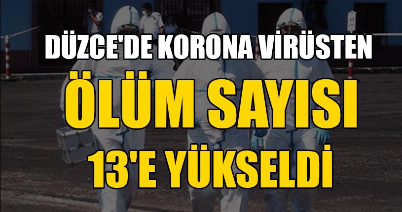Düzce'de Korona Virüsten Ölüm Sayısı 13'e Yükseldi
