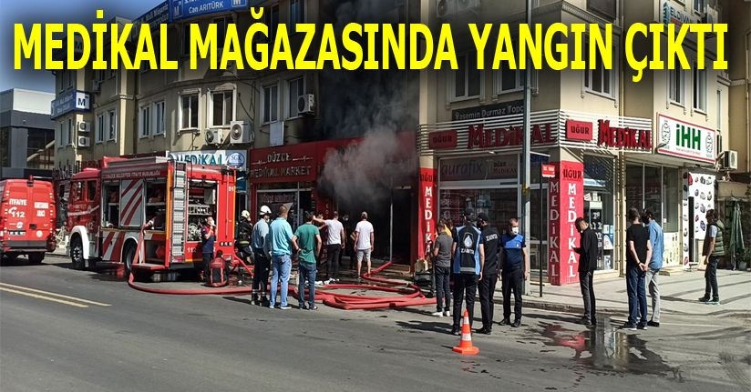 Hastane Caddesinde Yangın