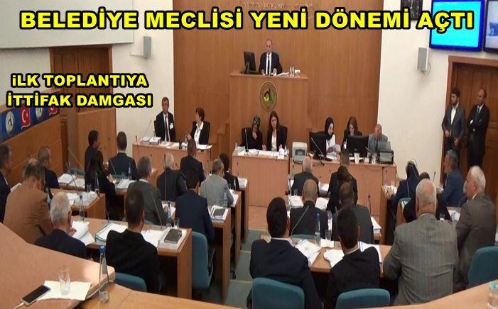 Yeni dönemin ilk belediye meclisi yapıldı