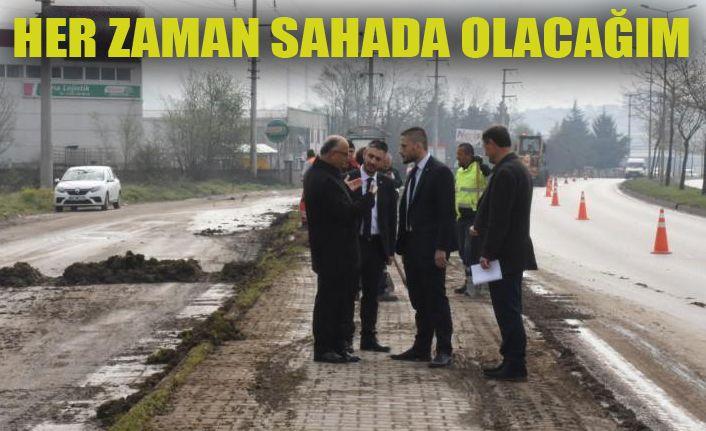 Başkan Yardımcısı Kasapoğlu Sahaya İndi