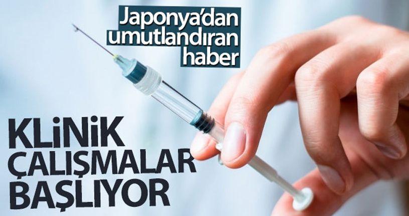 Japonya'da Kovid-19 aşısına yönelik klinik çalışmalar başlıyor