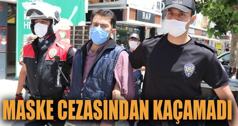 Maske cezasından kaçmaya çalışan şahıs polis kovalamacası ile yakalandı