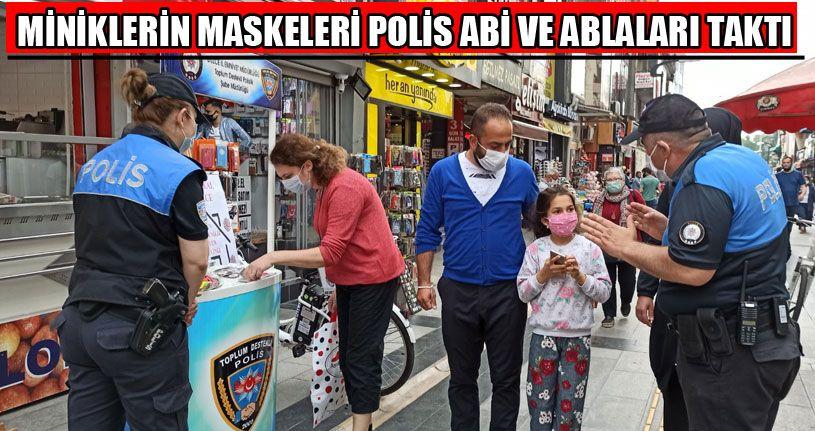 Miniklerin Maskelerini Polis Abi Ve Ablaları Taktı