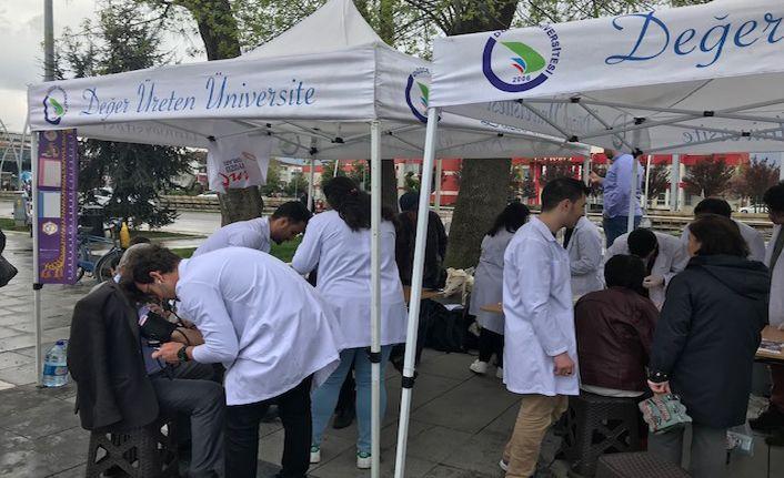 Üniversitesi öğrencilerinden sağlıkta farkındalık etkinliği