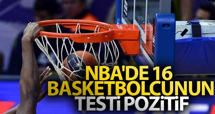 NBA'de 16 basketbolcunun testi pozitif