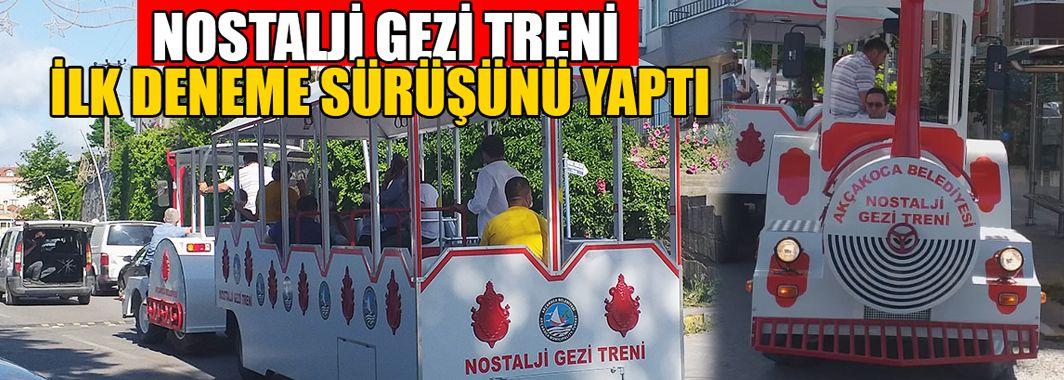 Belediye Kendi İmkanları İle Gezi Treni Üretti