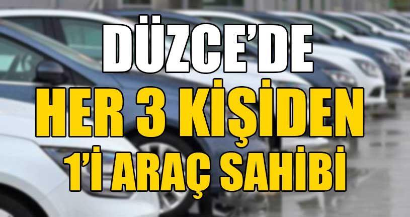 Düzce'de Araç Sayısı 113 Bine Yaklaştı