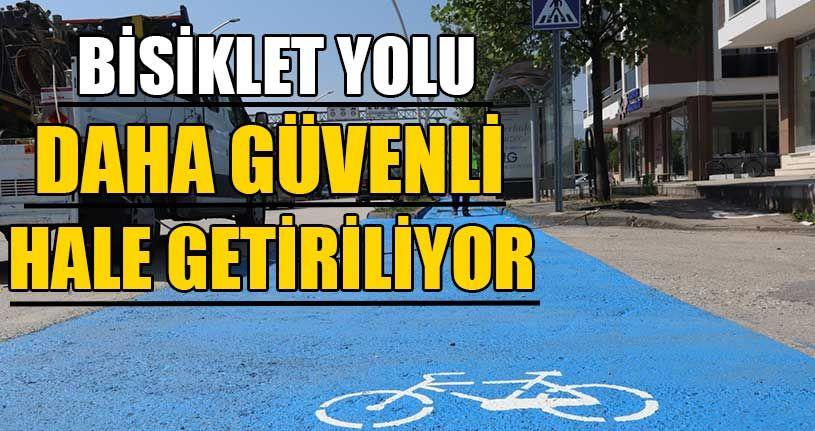 Bisiklet Yolu Daha Güvenli Hale Getiriliyor