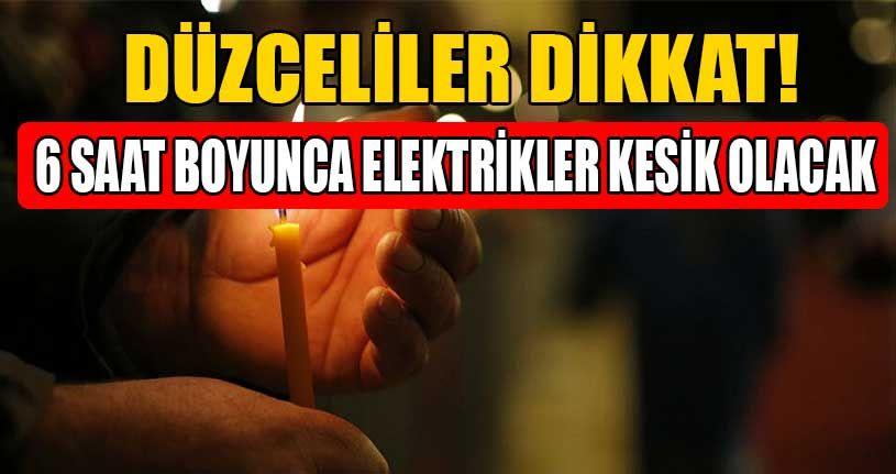 Birçok Mahallede Elektrik Kesintisi Yaşanacak