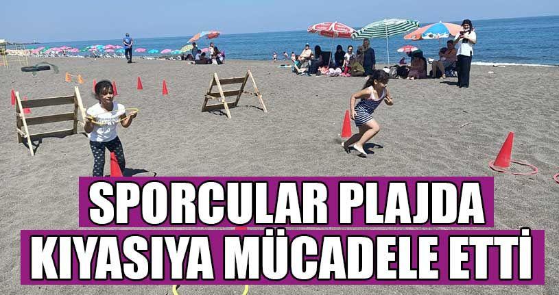 Sporcular Plajda Kıyasıya Mücadele Etti