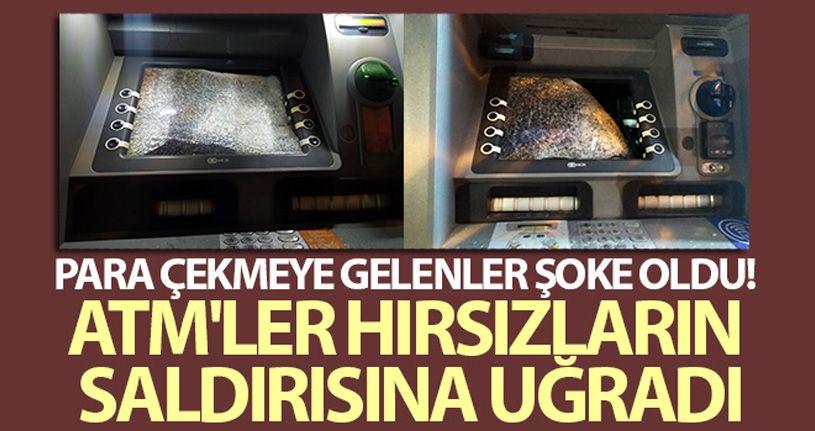 Para çekmeye gelenler şoke oldu, ATM'ler hırsızların saldırısına uğradı