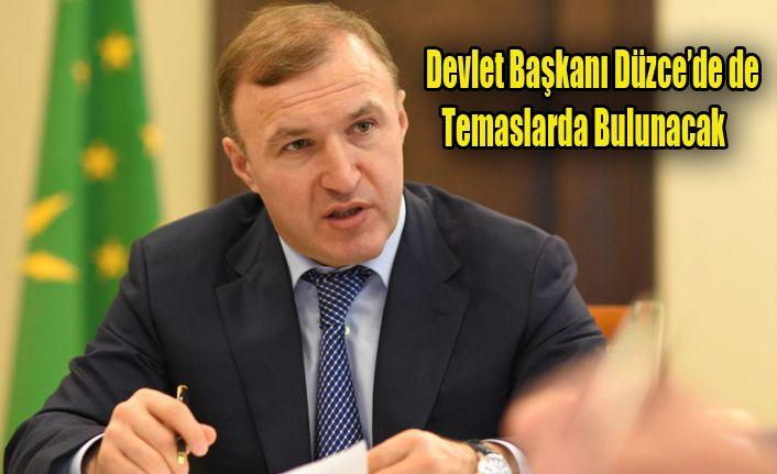 Adıgey Cumhuriyeti Başkanı Düzce'ye Gelecek