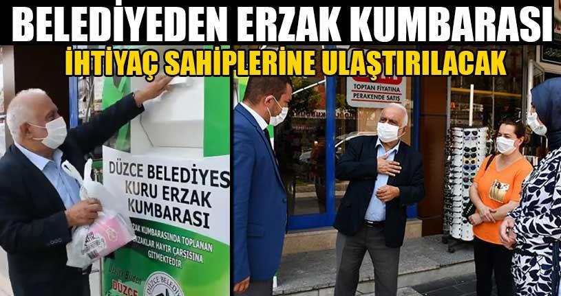 Belediyeden Erzak Kumbarası