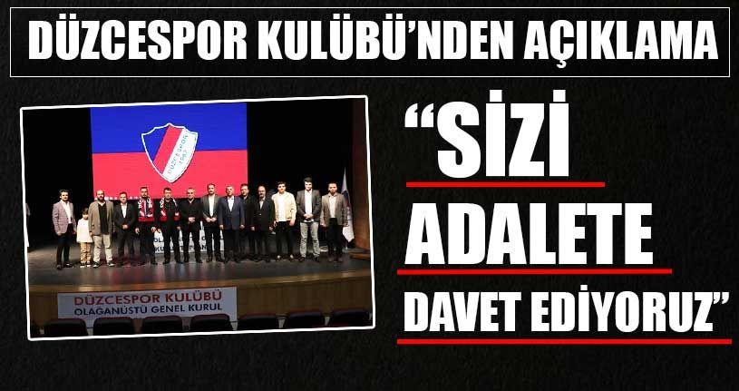 Düzcespor Kulübü'nden Açıklama
