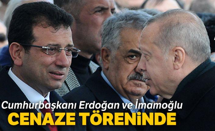 Cumhurbaşkanı Erdoğan ve İmamoğlu cenaze töreninde