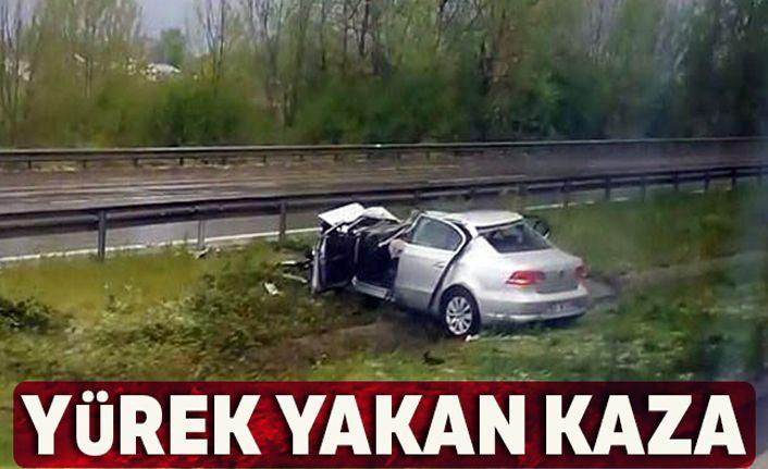 Sakarya'da yürek yakan kaza