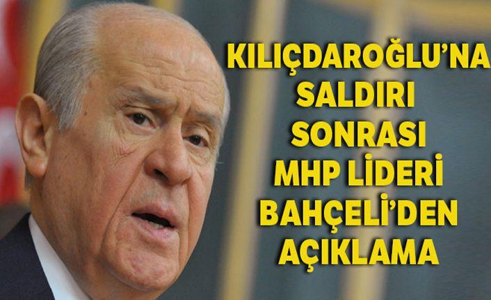 MHP Lideri Bahçeli, Kılıçdaroğlu'na saldırıyı değerlendirdi