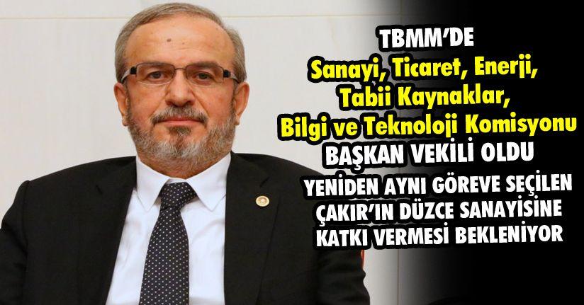 Fahri Çakır TBMM'de yapılan seçimlerde Komisyonu Başkanvekili oldu