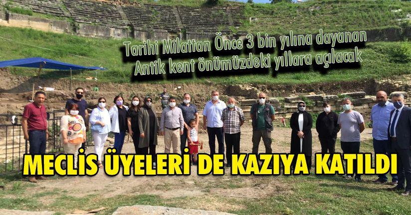 Meclis üyeleri Konuralp kazısına destek verdi