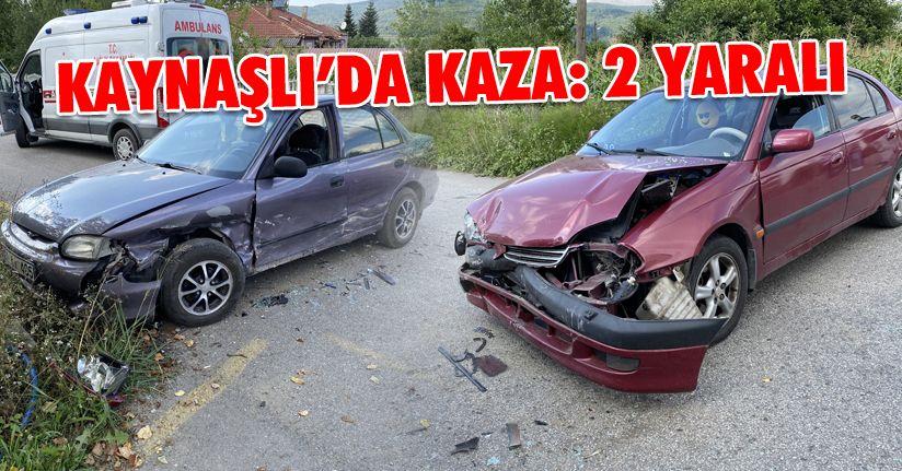 Kontrolsüz kavşakta otomobiller çarpıştı: 2 yaralı