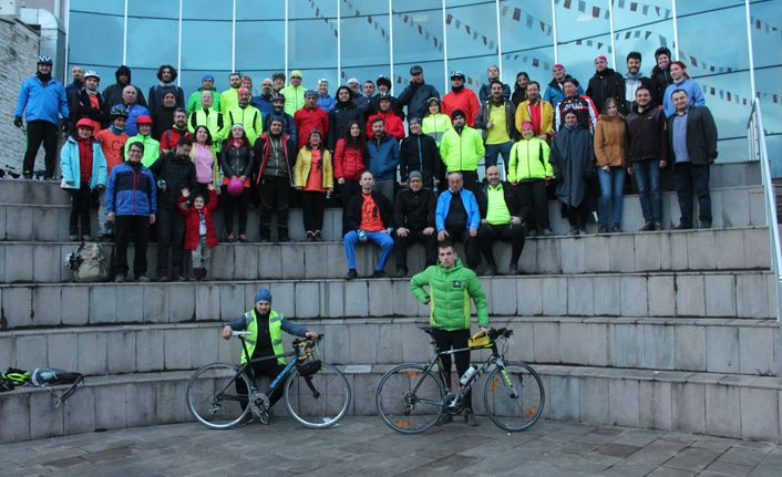 4. Düzce Bisiklet Festivali Katılımcıları DÜ'ne Konuk Oldu