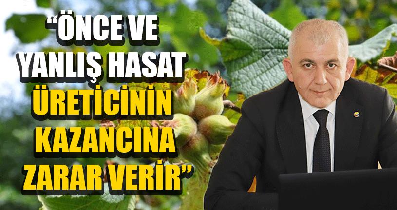 DTSO Başkanı Şahin'den Fındık Açıklaması