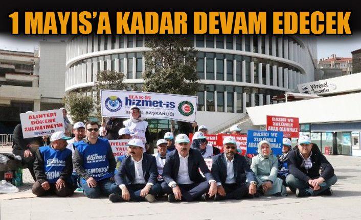 Belediye işçileri 2'inci günde eylemlerine devam ediyor