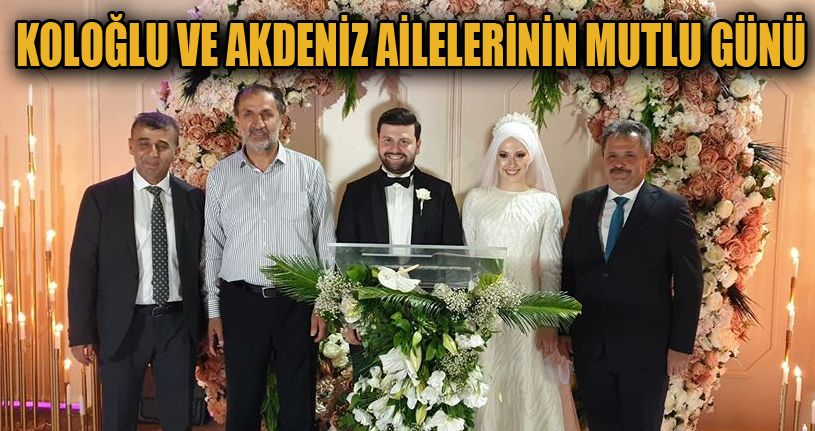 Başkan Koloğlu ve Başkan yardımcı Akdeniz'in mutlu günü