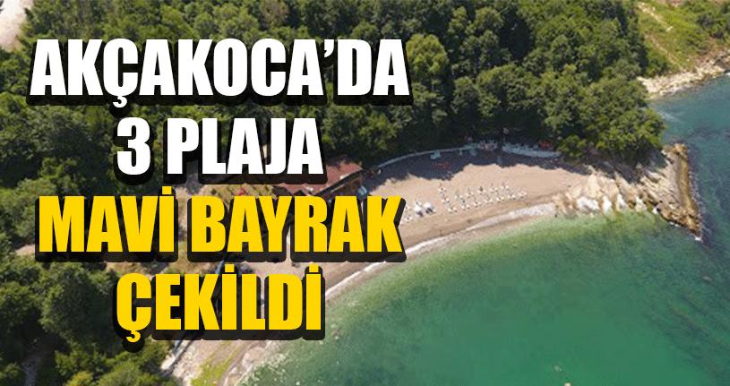Akçakoca'da Plajlar Mavi Bayrak Ödülünü Kazandı