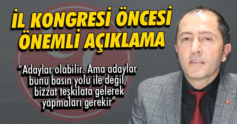 MHP İl Başkanı İlhami Caboğlu'ndan Önemli Açıklama