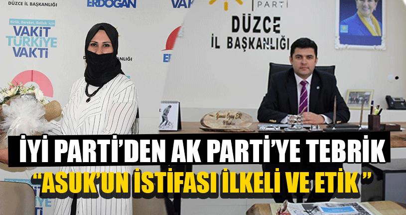 İYİ Parti'den AK Parti'ye Tebrik